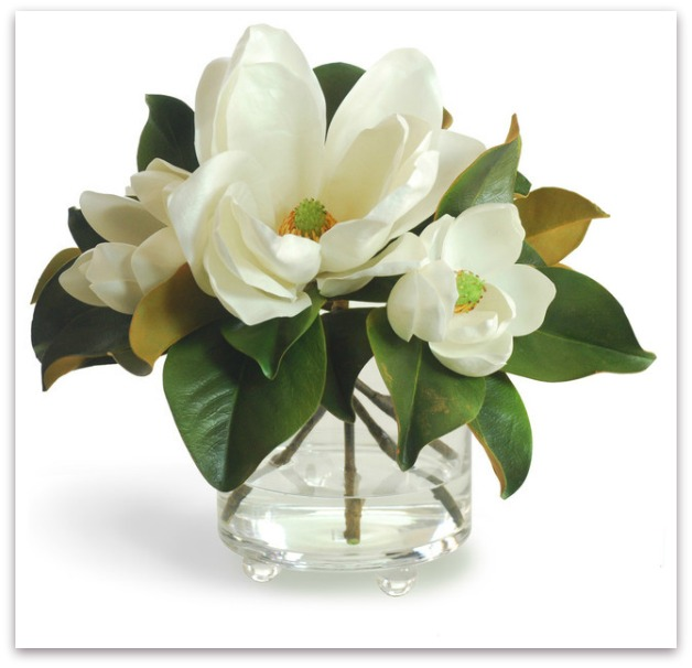 Artificial flowers mocha home good quality artificial magnolias can look almost real mightylinksfo Gallery