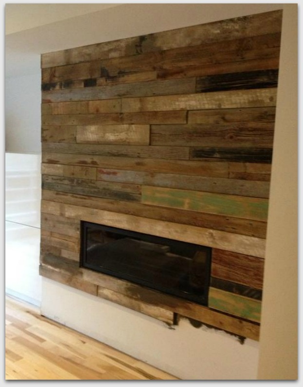 another wooden fireplace surround