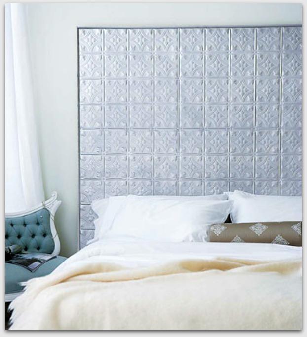 White tiles as bedhead