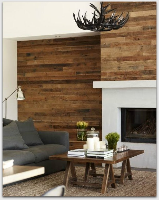 Wood around a fire place