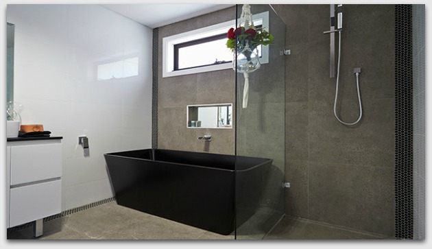 Black bath as a feature