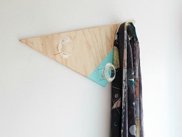 homemade coat rack